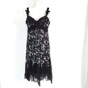 Morrell Maxie Bead Lace Strap SILK Cocktail Dress